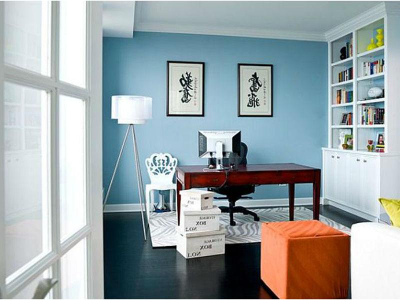 צביעת משרד בגווני כחול