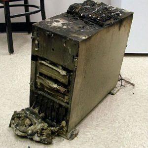 שחזור מחשב שנשרף